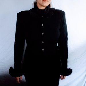Vintage Adrienne Vittadini Wool Dress & Jacket